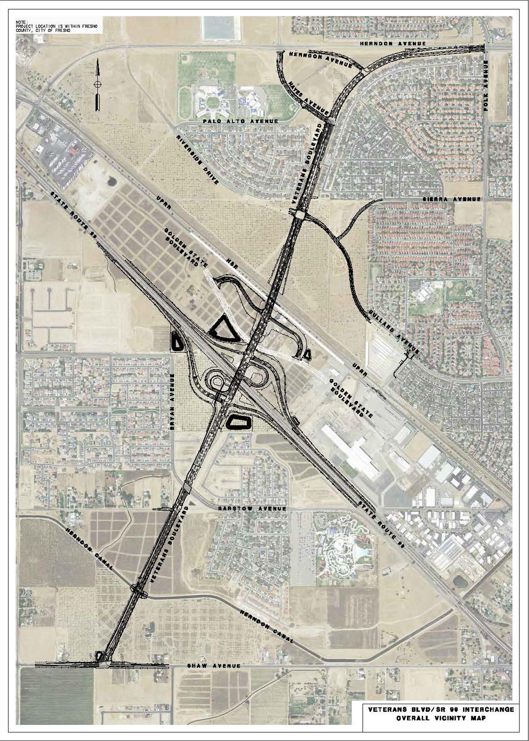 Veterans Boulevard Map Overall 1