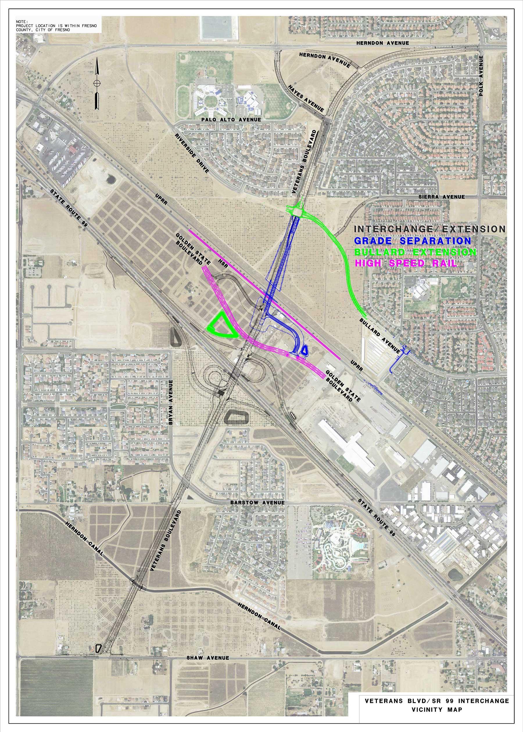 Veterans Boulevard Map Overall 2